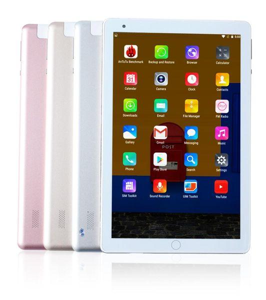 2018 Newest 4G Home key Metal Design Android 7.0 Tablet PC Tab Pad 10 Inch 1920*1200 IPS 10 Core 4GB RAM 64GB ROM Dual SIM Wifi