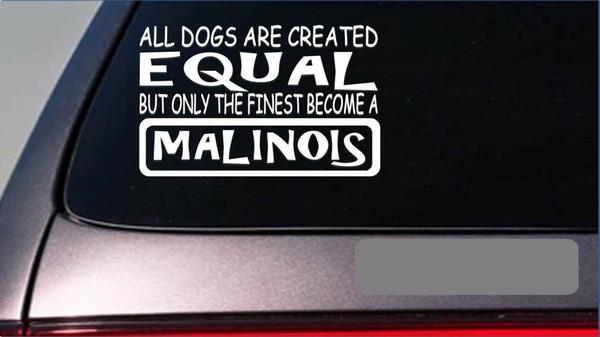 "Car Styling for Malinois equal Sticker 8"" vinyl schutzhund police k9 sleeve swat dog Car Sticker"