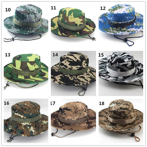 30pcs Tactical Bucket Beanie Hats Airsoft Sniper Camouflage Nepalese Cap Military Army American Military Accessories Hiking Hats J068