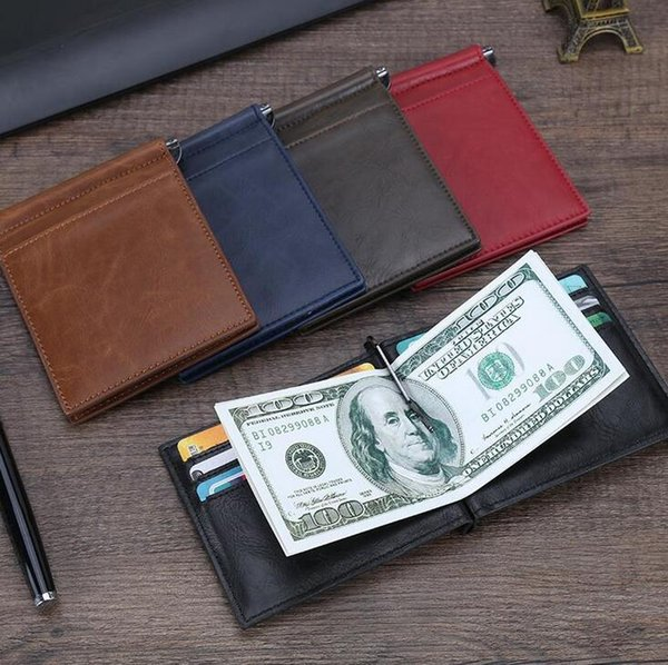 Pu leather business card case Men credit card wallet cash holder for Christmas New year gift 5 colors