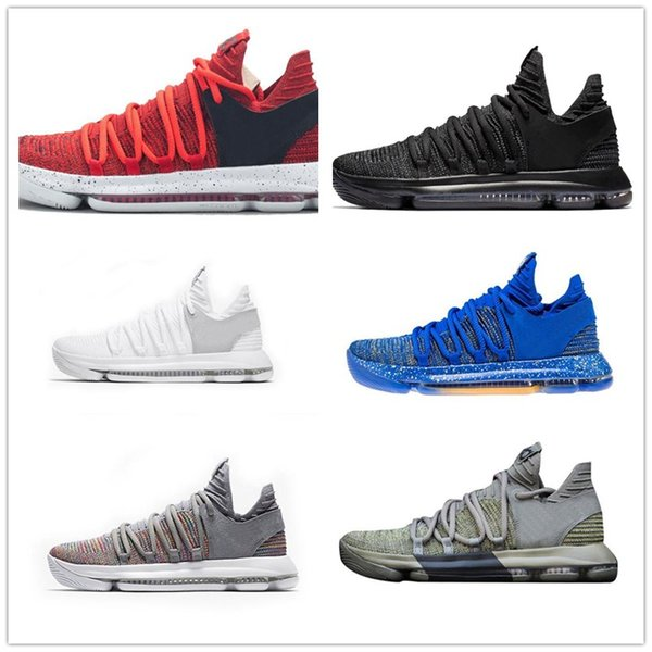 online store 27f03 e3cbe HOT Zoom KD 10 Anniversary University Kd Igloo BETRUE Oreo Men Basketball  Shoes USA Kevin Durant
