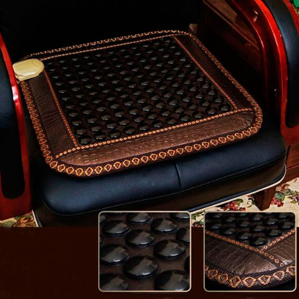 Heating Pad far Physiotherapy Natural Jade Stone Office Chair Sit Mat Hexagonal Plane Germanium Stone Size 45cmX45cm