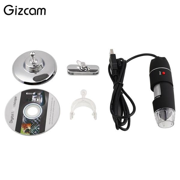 Gizcam 1000X Зум 8 LED USB HD 2MP Цифровой микроскоп CMOS датчик эндоскоп видеокамера микро камеры лупа
