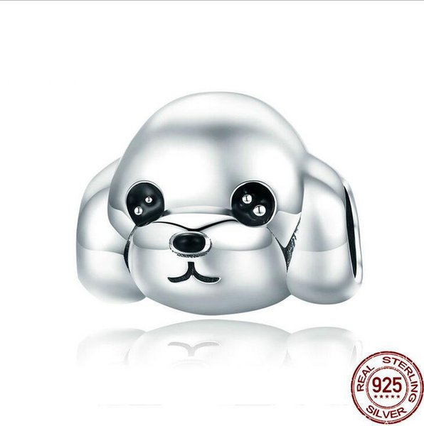 Sterling Silver 3-D 20 mm Caniche Chien Charme