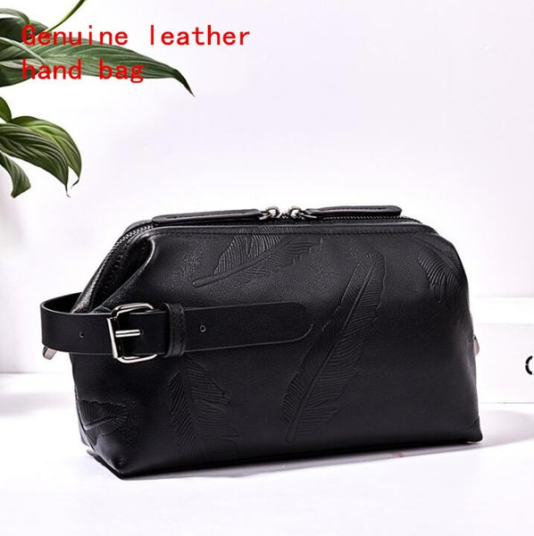 Factory brand men bag and delicate leaves embossed men wallet soft head cowhide casual hand bag large capacity real leather wallet