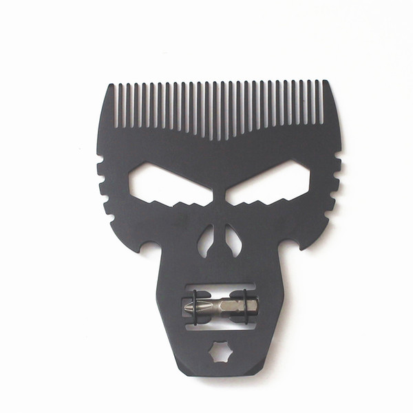 2018 Best Man Titanium Black Mutil Skull Comb for Fathers' Day