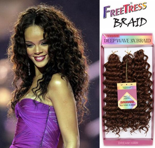 Synthetic Deep Wave Hair Extensions Freetress Crochet Hair Afro Kinky Curly Synthetic Jerry Curl Crochet Braids Twist Hair for African Women