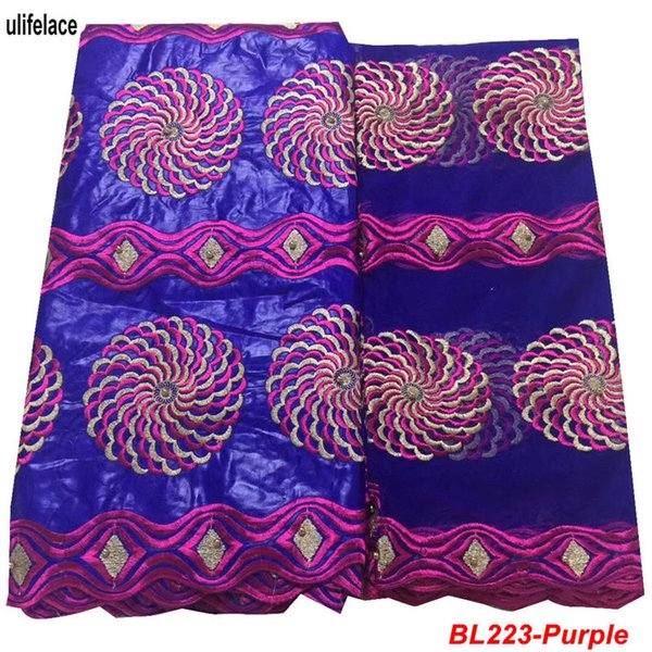 Nigerian bazin Lace Fabric Hot Selling Design High Quality Bazin riche getzner dress material For beaded fabric trim BL-223