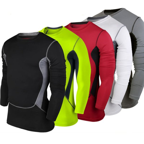 Homens de fitness de Manga Longa de Basquete Correndo Sports T shirt Homens  Musculação Musculação Ginásio 5d245f78392e9