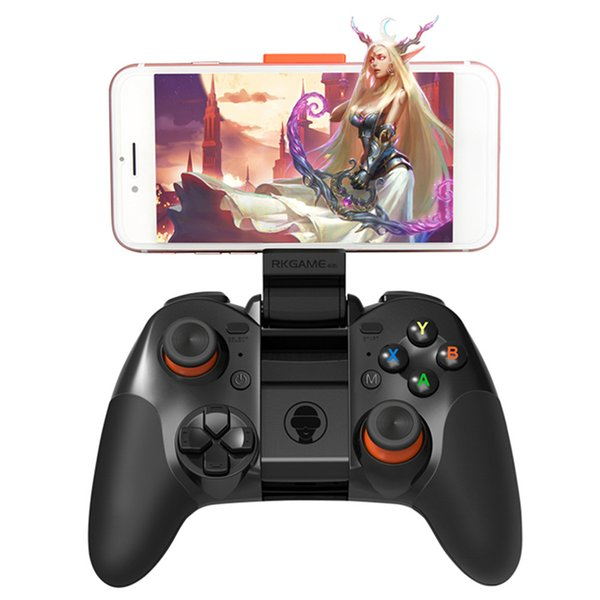 single-piece Hot RK Game 4th Bluetooth Gamepad Wireless 4.0 Joystick Dual Mode Support for IOS/For Android Game Controller Joypad