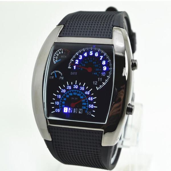 198492ed Новые мужские цифровые часы сектор приборной панели часы для мужчин Спорт  Колок relojes para hombre