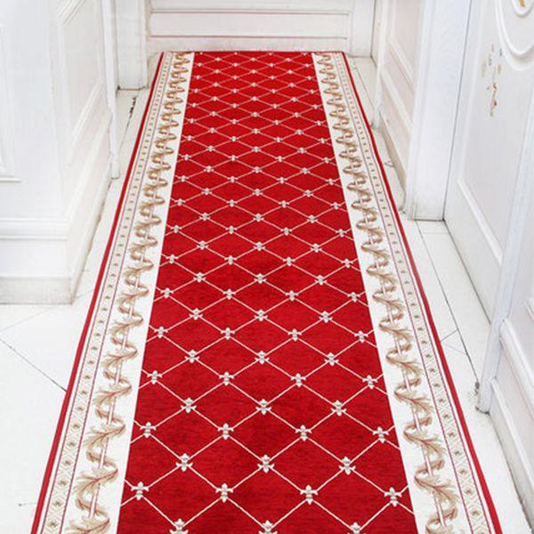 Acheter Nordic Rouge Couloir Tapis Carpettes Chambre Salon Tapis