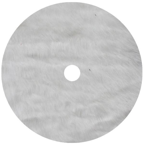 "Free Shipping Extra Large 36""/50"" white faux fur fashion decoration soft Christmas tree skirt p4761"