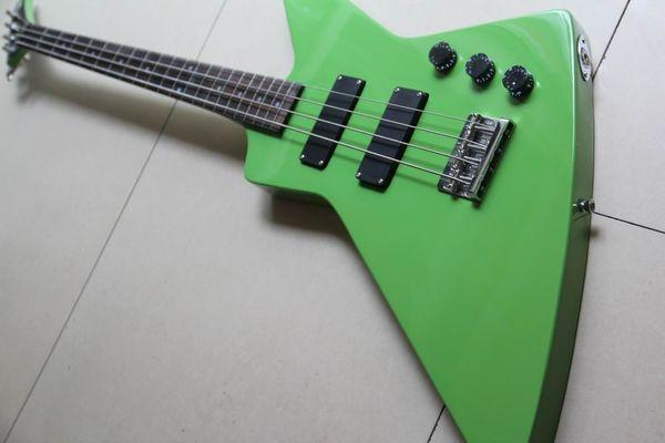 best selling Wholesale New Custom Explorer 4 String Electric Bass Guitar Guitarra In Green130128
