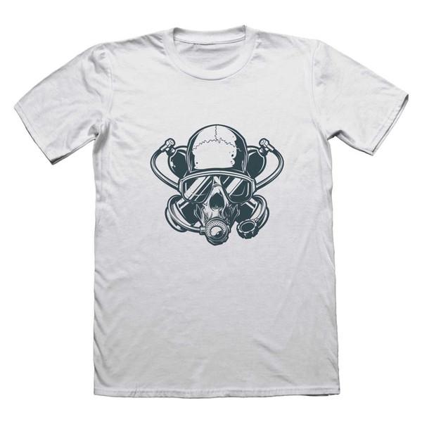 Аквалангист череп Twinset футболка-смешные мужские подарок #0113 мужчины Марка Clothihng высокое качество мода мужская футболка 100% хлопок