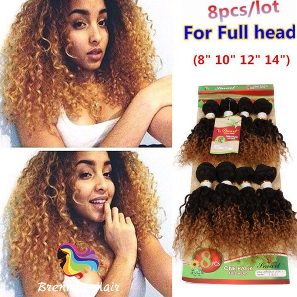 8PCS Per pack Brazilian human virgin hair bundles kinky curly loose wave deep curly hairpeice for black women hair extension USA UK AFRICAN