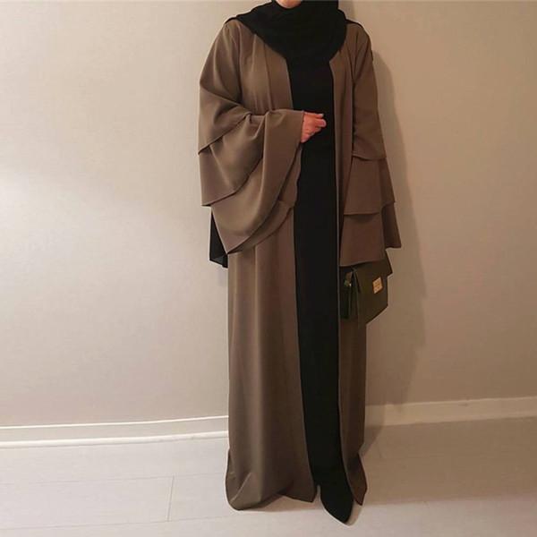 2018 UAE Abaya Kimono Dubai Kaftan Arab Islam Women Long Cardigan Muslim Hijab Dress Elbise Mubarak Turkish Islamic Clothing