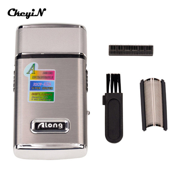 CkeyiN Electric Rechargeable Men Shaver Razor Face Care Reciprocating Shaver Portable Mini Electric Barber Hair Trimmer