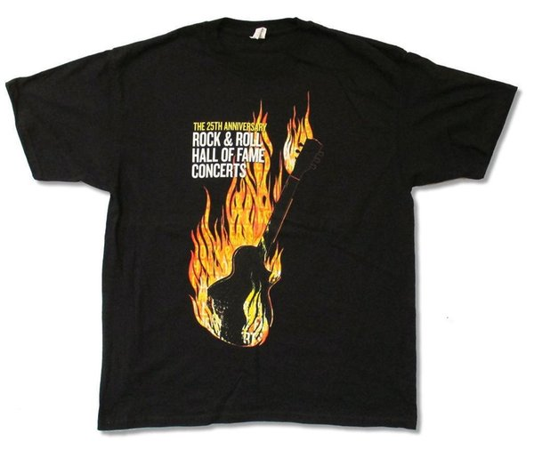 Rock & Roll Hall Of Fame 25th Anniversary NYC 2009 Event T Shirt New Official Newest 2018 Men T-Shirt Fashion top tee