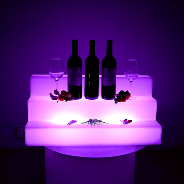 Waterproof Color Changeable LED Three Step Bars Shelves Holder Lighted Up  Bottle Displays Beer Holders Wholesale Bar Tools UK 2019 From Jcwatches,  GBP