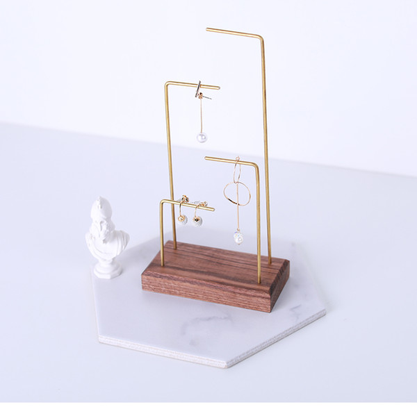Fashion new design jewelry display stand earring holder wooden stand display high quality for brand company stand earring display JS-02-04