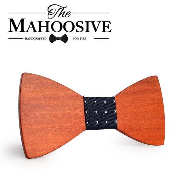 Mahoosive 간단한 남자 양복 보우 타이 신랑 결혼식 파티 남자 정장 착용 비즈니스 넥타이 보우 넥타이 의류 액세서리