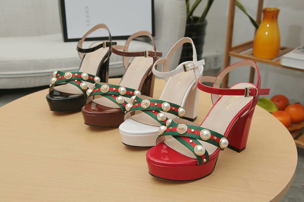 Pearl sandals 9856 Women Boot Riding Rain BOOTS BOOTIES SNEAKERS High heels Lolita PUMPS Dress Shoes