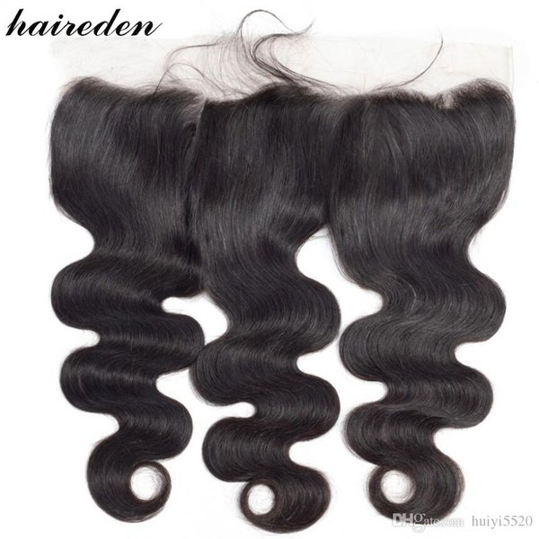 Brazilian Body Wave Lace Frontal Closure 13*4 Swiss Lace Remy 100% Human Hair Weaves Ear To Ear Free Part With Baby Hair