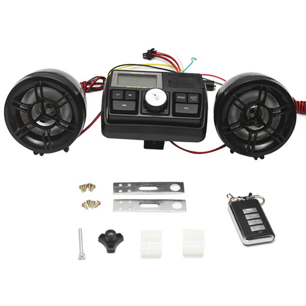 Anti-theft Motorcycle Alarm Sound System Motor Car Audio MP3 FM Radio Stereo Speakers Music for Theft Protection New