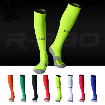 professional long pressure Football Soccer Stockings for unisex bottom of Towel Above Knee non-slip wearproof Durable Sport socks