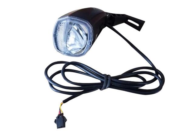 Electric Bike 48V Headlight Front Tail Rear Lights LED Night Lamp Flashing Spotlight Headlamp Cycling EBike Accessories Part