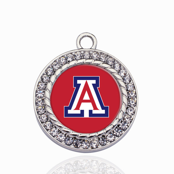 Arizona Wildcats Charme Ouro / Sliver Pingentes Para Colar / Pulseira Fazendo Descobertas Jóias DIY Artesanais Presentes Artesanais