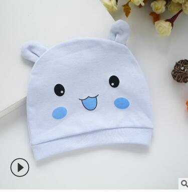 Newborn nature cotton hats cute animals smile face cats party birthday gifts cheapest hat kids photography props 168