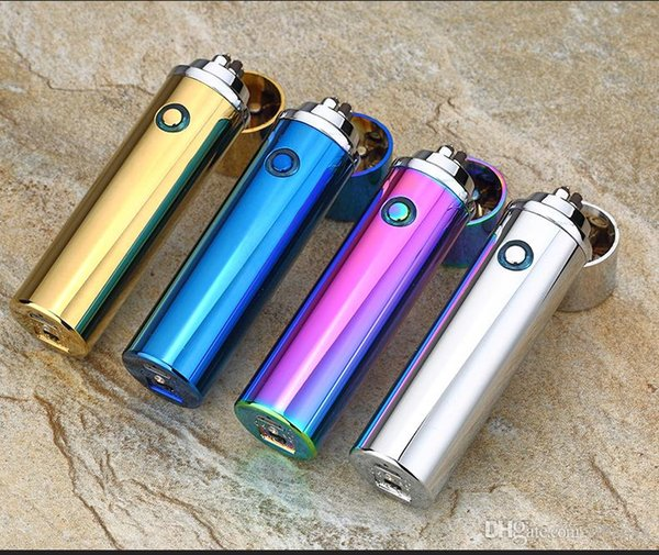 Double fire cross twin arc Double cross fire ice new electric arc gold colorful charge usb lighters Including retail packaging c062