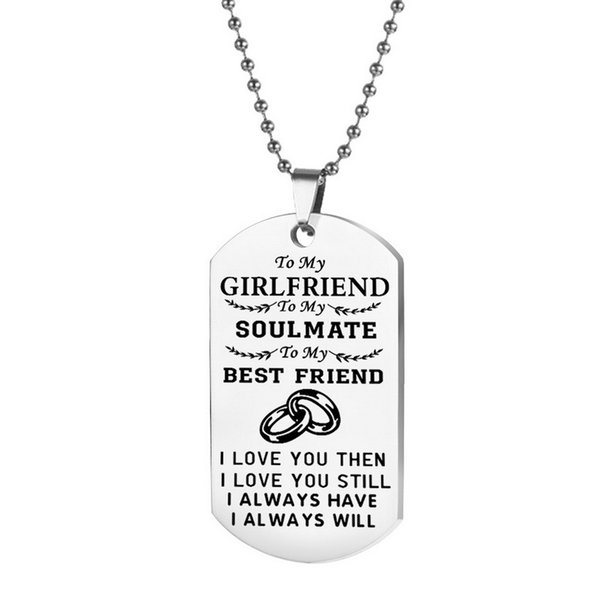 to my girlfriend necklace