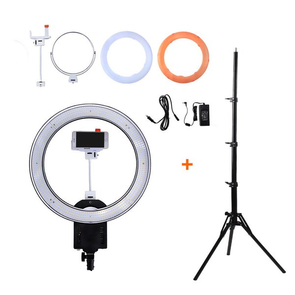 "NanGuang CN-R640 19""Photo/Video/Studio/phone 640 LED 5600K Camera Macro Ring Light Lamp for Makeup Photography With tripod Stand"