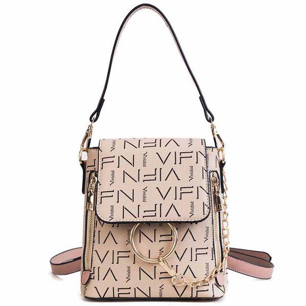 2018 New Pu Women s Shoulder Bag Brand Designer Bag Luxury High Quality  Letters Retro Casual Short Travel Cute Backpack 5f038ba466965