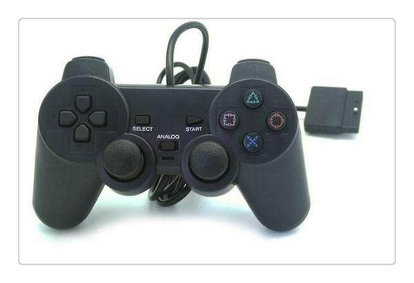 Sıcak PS2 Denetleyici Kablolu PS2 Playstation 2 Denetleyicisi Için Çift Titreşim Joystick Ücretsiz kargo
