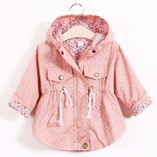 Горячая мода детская куртка девушки верхняя одежда повседневная с капюшоном пальто девушки куртки школа 2-8Y детские траншеи весна осень SC410