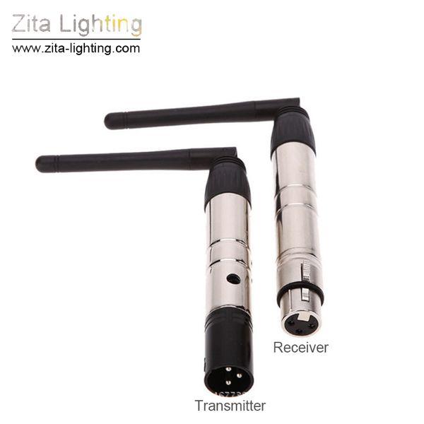 Zita Lighting Wireless 2.4G DMX Controller Transmisor de señal Receptor LED Control de iluminación de escenario 1 par de bolígrafos con adaptador Accesorio accesorio