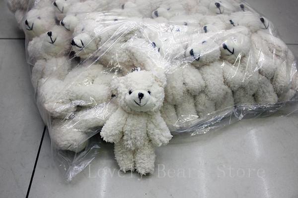 top popular 50PCS LOT Kawaii Small Joint Teddy Bears Stuffed Plush With Chain 12CM Toy Teddy-Bear Mini Bear Ted Bears Plush Toys Gifts Christmas gif 2019