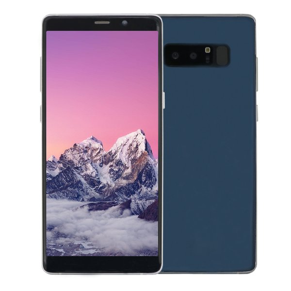 Cheap 6.3 inch Goophone Note8 3G WCDMA Quad Core MTK6580 1GB 4GB Android 7.0 GPS WiFi 5.0MP Camera Full Screen Curved Metal Frame Smartphone