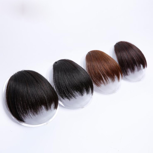 Curto Falso Cabelo Franja Resistente Ao Calor Perucas Sintéticas Clipe Em Extensões de Cabelo para As Mulheres Franja Penteados