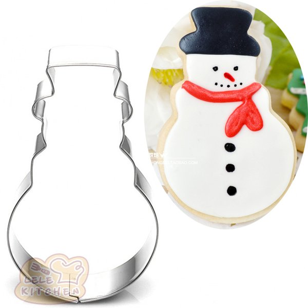 10pcs snowman Metal cookie cutter xmas biscuit tool Fruit vegetable die cut Sushi stamp bread mold cupcake topper cake pastry tools