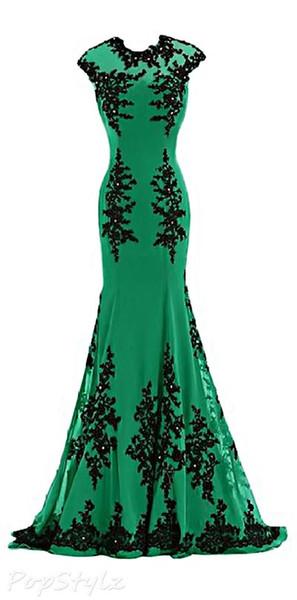 Evening dress Yousef aljasmi Long Dress Sleeveless Applique Jewel Chiffon Mermaid kim kardashian Myriam Fares