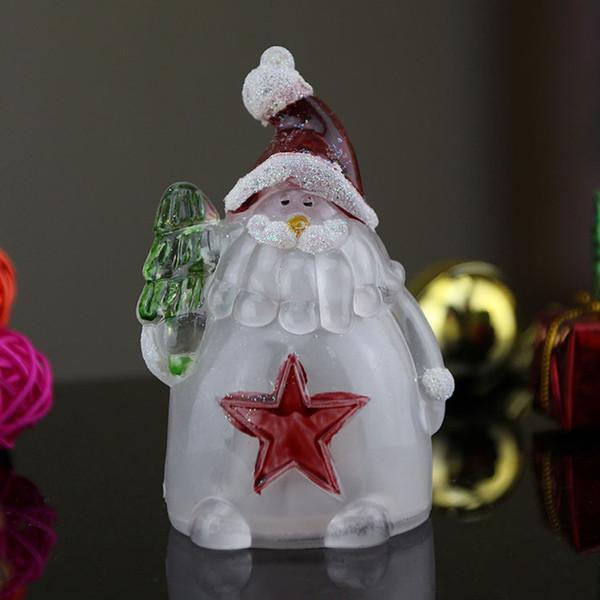 акриловый Рождественский снеговик вел 7 маленький ночной свет мульт светоизлучающий небольшой подарок Оптовая фабрика прямой контакт