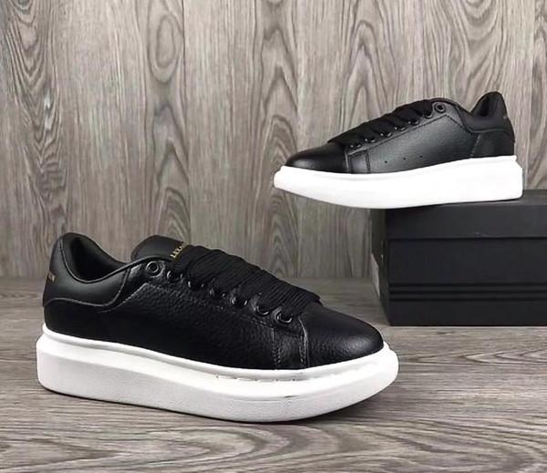 1f4df78fd Desconto Mens Womens de couro branco de veludo preto de volta Sapatos de  Plataforma Flat Sapatos