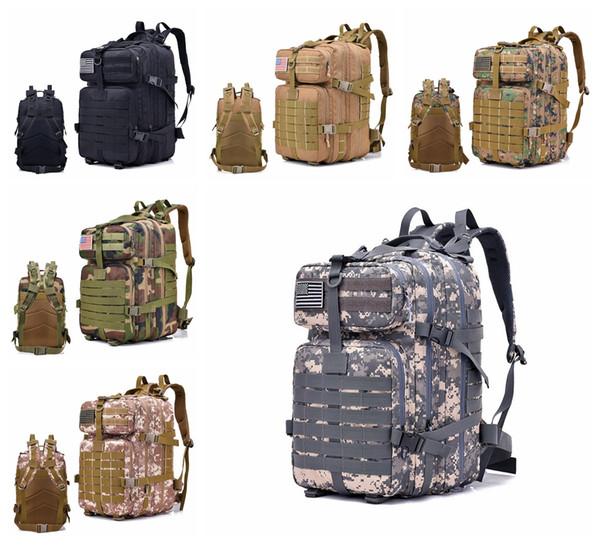 40l à prova d 'água oxford esporte ao ar livre molle tático saco de viagem mochila camping caminhadas trekking mochila mochila dda628