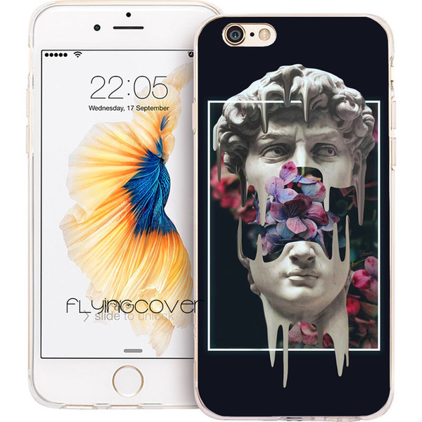Vaporwave Glitch Art Clear Soft TPU Silicone Fundas Cases for iPhone 10 X 7 8 Plus 5S 5 SE 6 6S Plus 5C 4S 4 iPod Touch 6 5 Cover.