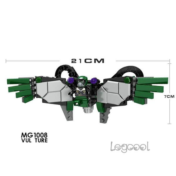 MG1008 10pcs/lot Super Hero Avengers Vulture SpiderMan Spider-Man Ares Action model figure Marvel bricks building blocks toys for children